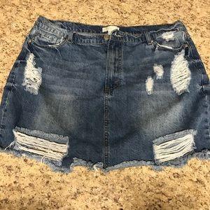 Forever 21 Jean Skirt